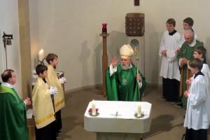 Pontifikalamt mit Bischof Feige im Rahmen seiner Visitation des Gemeindeverbunds St. Josef Blankenburg am letzten Februar-Wochenende 2014