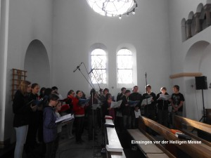 """Singen der """" MainzerMesse """" am 05.10.2014 in St. Marien Wernigerode, gemeinsam mit Vertretern der Chöre aus Blankenburg, Quedlinburg undWernigerode"""