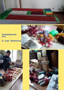 Am 2. und 3. Advent wurde durch geschickte Hände vieler Gemeindemitglieder ein Handarbeitsmarkt vorbereitet.